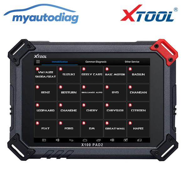 Promotion 2018 XTOOL X100 PAD2 OBD2 Auto programmeur clés compteur kilométrique Correction Code de l'outil Lecteur de voiture outil de diagnostic