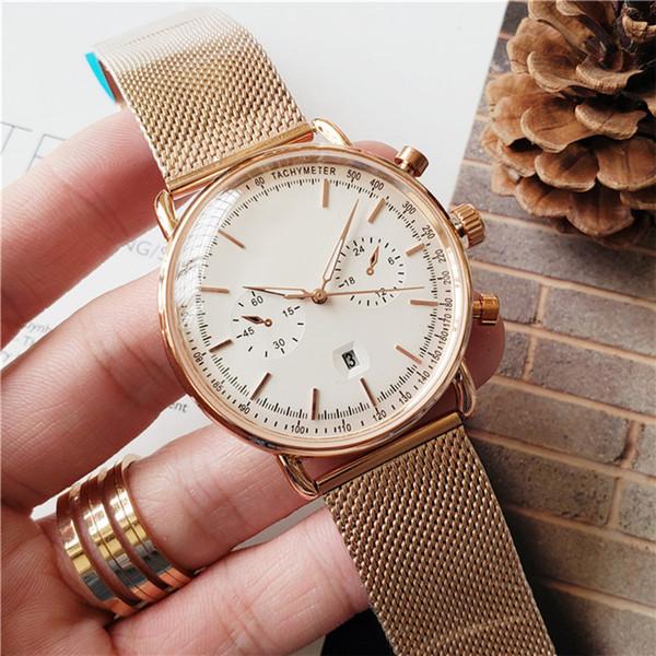 Montre célèbre Luxe Homme Mode Marque Montre Bracelet en acier inoxydable Business Watch Cadeau de Noël Souvenirs