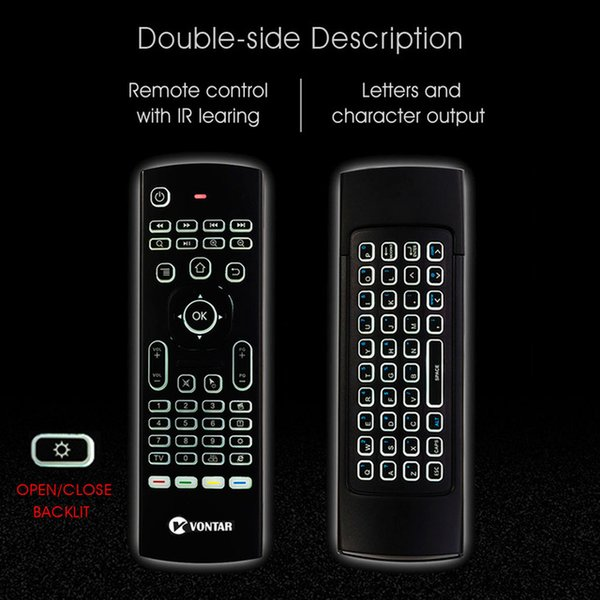 ccessories & Parts Remote Control MX3 Air Mouse Optional Voice Remote Control 2.4G Wireless Keyboard Backlit IR Learning for Android ...