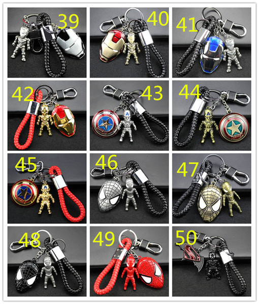 98 arten Avengers Keychain Metall Auto Anhänger Kreative Geschenk Auto Schlüsselanhänger Mann Wei Anime Ornament Llavero Moto Schlüsselanhänger Für Auto Zugang 190426