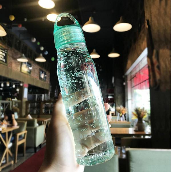 Sportschale Kreative Grüne Plastikschale Student Einfache Sport Wasserflasche Outdoor Tragbare Widerstand Fallende Kindschalen