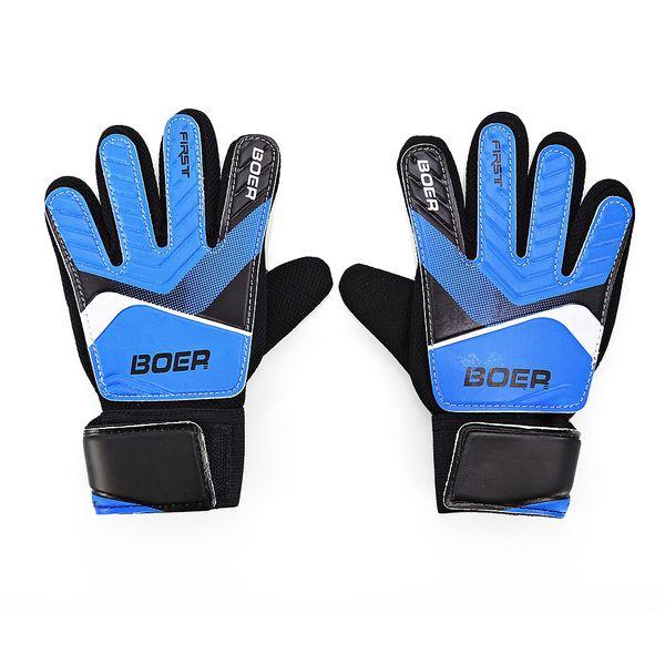 Entry-level children goalkeeper gloves kids child goalkeeper football non-slip finger embossed gloves outdoors sports for Goalie Beginners