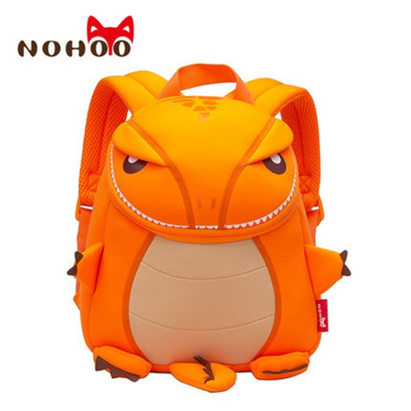 Nohoo Children Dragon Backpack Kids Toddler Waterproof School Backpack 3d Cartoon Sidesick Bag For Kindergarten Mochila Escolar Y19051701