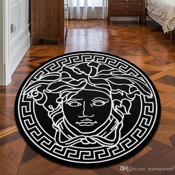 Neue marke logo medusa muster carpet heißer verkauf anti-slip carpet schwarz wohnkultur fußmatte küche bad wohnzimmer bodenmatte hause liefert