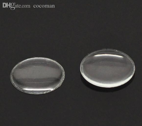 Venta al por mayor-caliente 204 Borrar ronda Epoxy Domes resina pegatinas 12mm Dia. (Más de $ 100 gratis Express)