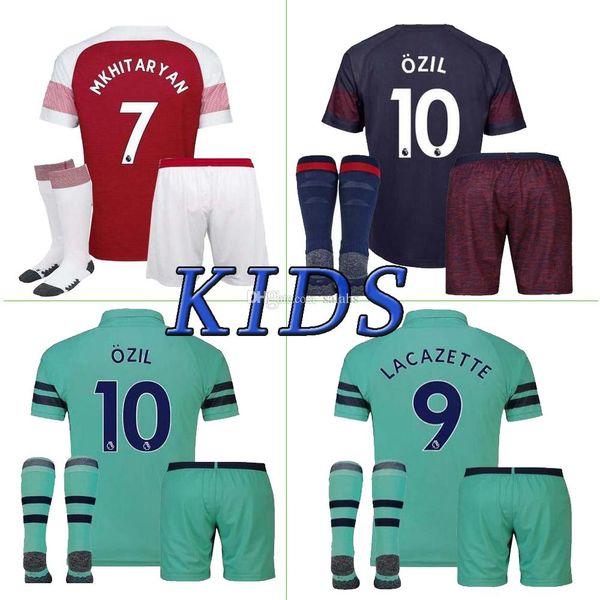0ecdfa47af4ef Arsenal soccer jersey home away 3rd Arsenal Kids kit 18/19 HUNTELAAR OZIL  AUBAMEYANG LACAZETTE