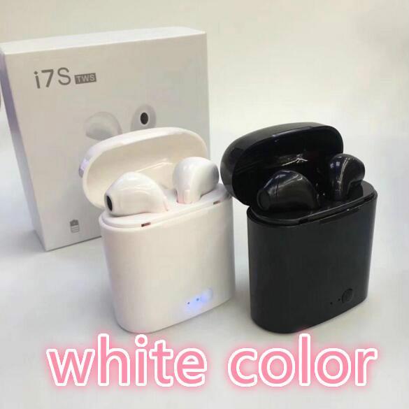Auriculares inalámbricos Bluetooth i7S TWS Gemelos Auriculares inalámbricos parlantes binaurales con cargador Auriculares estéreo VS i9s i12 i14 i16 i20 venta caliente