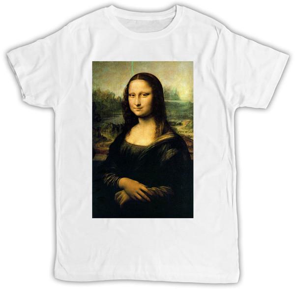 MONA LISA POSTER IDEAL REGALO CUMPLEAÑOS PRESENTE COOL RETRO DIVERTIDO T SHIRTFunny envío gratis Unisex Casual camiseta