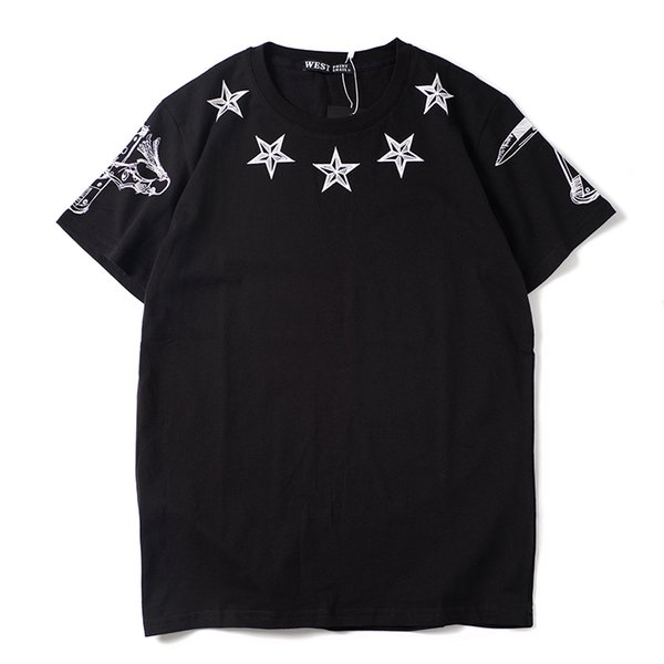 2019 latest HOT best Quality Fashion show from Milan PERSONALITY HOT SELL Summer clothes Short sleeved Fashion Trend JOKER T-SHIRTS TOPS