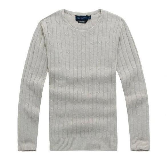 Christmas New mile wile polo brand men's twist sweater knit cotton sweater jumper pullover sweater Small horse game drop shipping
