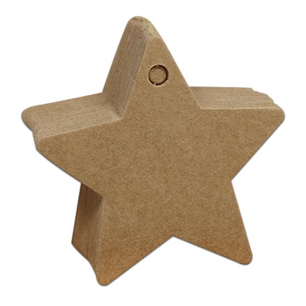 6x6 cm Star Brown