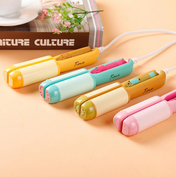 Fruit Iron Lovely Mini Hair Straightener Professional Hair Style Tools Straightening Curler Hair Flat Irons Travel In Case
