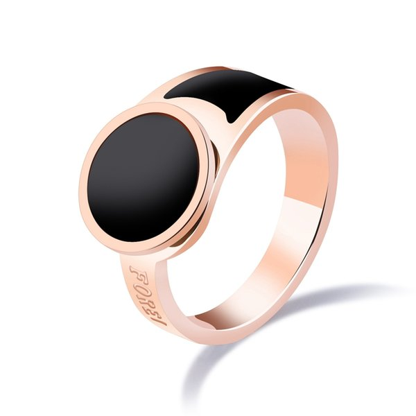 newly created body jewellery black shell man ring in stainless steel color