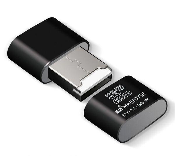 Portable Mini USB 2.0 Micro SD TF T-Flash Memory Card Reader Adapter Flash Drive SD flash memory Wholesale Black