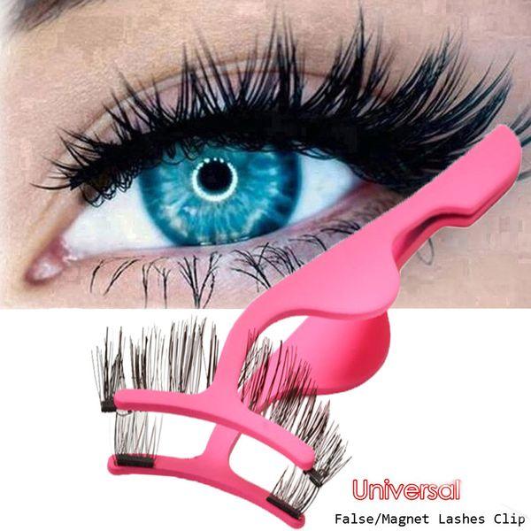 kanbuder Eyelash Curler Pink False Eyelashes Extension Applicator Remover Clip Tweezer Nipper Beauty Tool dropship ap22