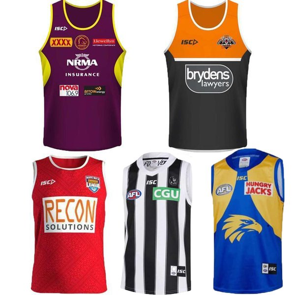 best selling 2019 Cowboys Wests Tigers Brisbane Broncos Maroons New Zealand rugby Jerseys Singlet jersey NRL National League vest shirt jersey Singlet