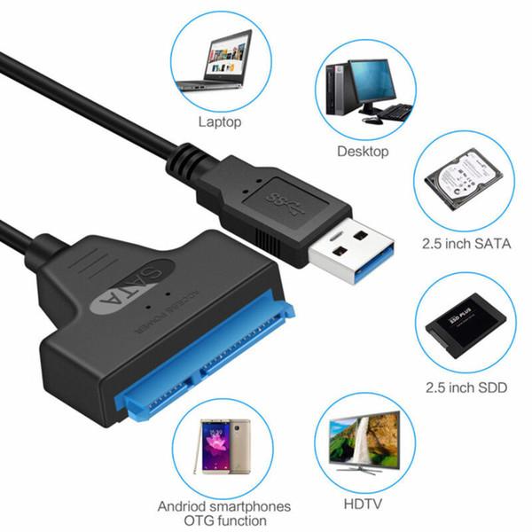 2019 베스트 셀러 제품 USB 3.0에 연결하는 SATA 22 핀 2.5 PC 노트북 하드 디스크 드라이브 SSD 어댑터 케이블