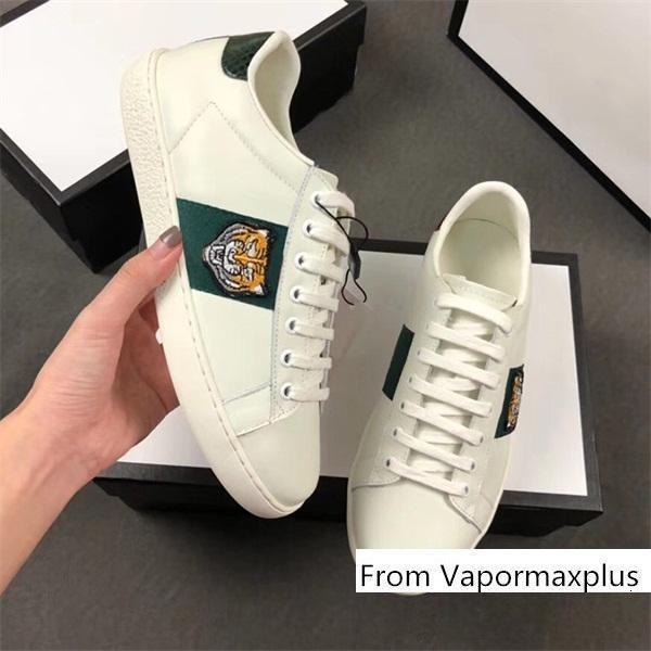 Wholesale Ace leather sneakers designer men women classic sports python tiger bee flower embroidery cock luxury shoes