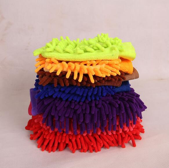 Single side Soft Cleaning Towel High density Coral Washing Gloves chenille Cleaning gloves Car washing supplies H092