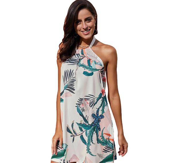 Vestido de las mujeres del verano Vintage bohemio sexy floral túnica vestido de playa Sundress Pocket vestido blanco rojo a rayas