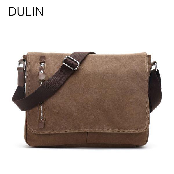 Multifunction Men Canvas Bag Casual Travel Crossbody Bag Messenger Bags black