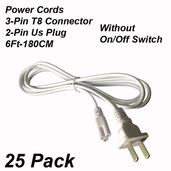 2Pin 6Ft Power Cords Without Switch