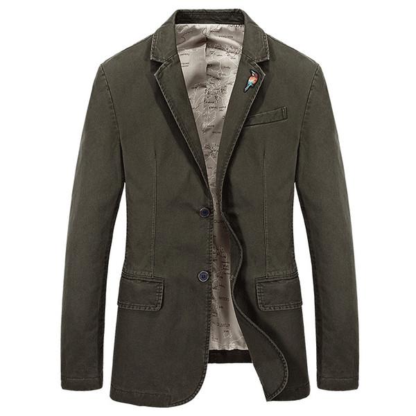 Chaqueta de la capa ocasional de la chaqueta Marca Moda masculina el Hombres diseñador de los hombres Blazer Terno Masculino Vetement Homme 4XL AF66001A MX191118