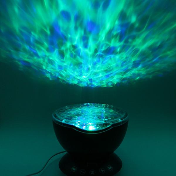 SXZM DC5V USB Renkli LED ışık Aurora Sky Tatil Hediye LED Uzaktan Kumanda ile Yıldızlı Gece Işığı Lambası Okyanus Dalgası Projektör