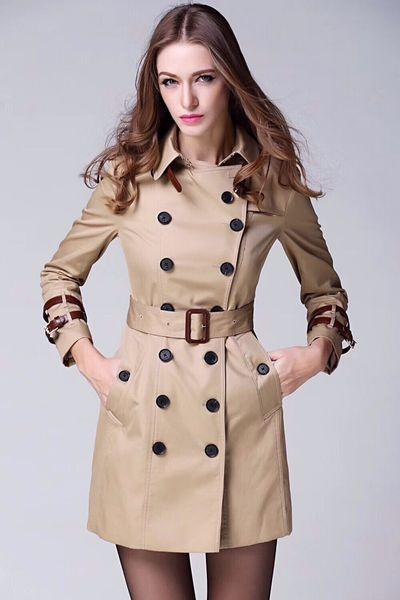 women's trench coats gabardine long windbreaker belt waterproof new english style autumn winter solid color british double breasted 98b