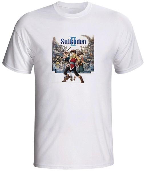 Suikoden 2 camisa video juego Camiseta de manga corta Nuevo Top Tees Estilo Moda Hombre Camisetas 100% algodón
