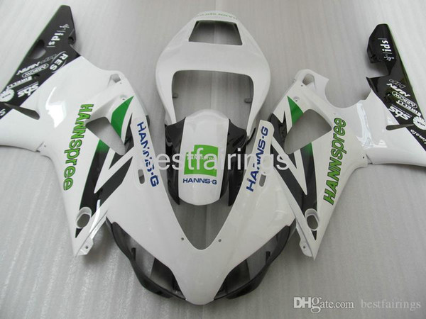 ZXMOTOR Free custom fairing kit for YAMAHA R1 1998 1999 white black fairings YZF R1 98 99 GG47