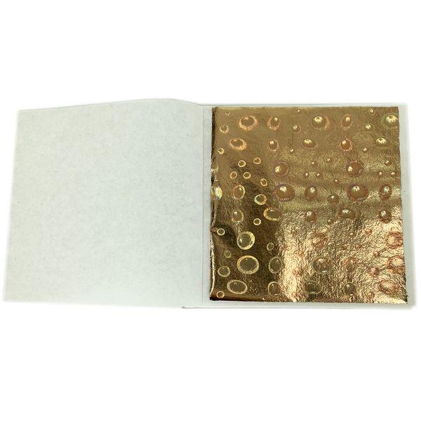 Craft Paper Sparkling gold foil - Taiwan Laser gold leaf 8 x 8.5cm 100 sheets per pack craft paper for gilding decoration