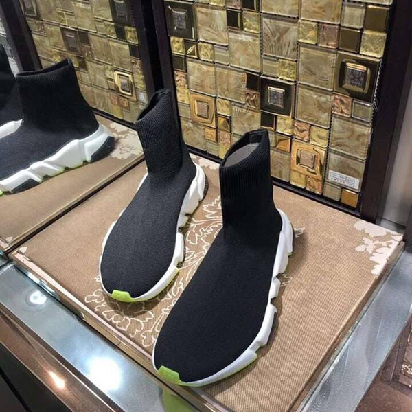 Носки Обувь Мужская Женская Роскошная Дизайнерская Повседневная Обувь Trick Bottom Слипоны Модные Новые Спички Цвет Пары Носок Обуви