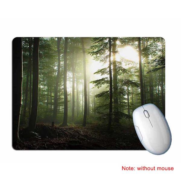 Yeni Oyun Mouse Pad Kauçuk Mat Peyzaj Baskılı Ev Ofis için Anti Kayma Mousepad
