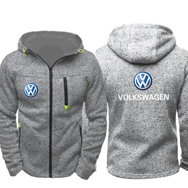 Acheter VW Sweat À Capuche Mode Hommes Vêtements De Sport Hommes À Capuche À Capuche Fermeture Éclair Sweat Homme Sweat À Capuche Automne Printemps