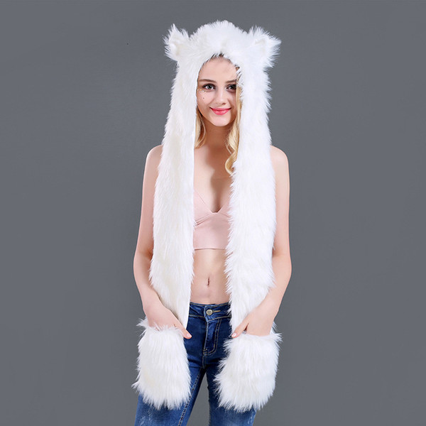 White fox fur-100c m
