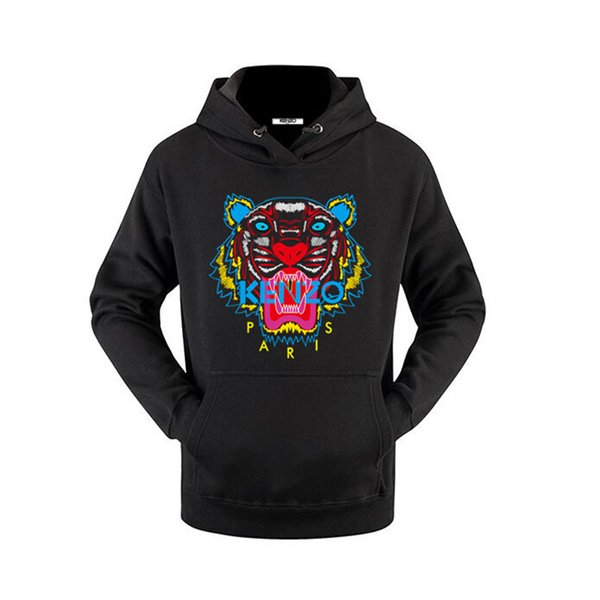 2019 19SS TigerKenzo Mens Hoodie Hip Hop Vogue Brand Luxury Sweatshirts Casual Printing Pullover Clothes Women Streetwear Hommes.Kanye 5XL From