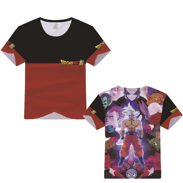 New Cartoon Dragon Ball 3D Digital Printing Cosplay Costume Short Sleeve T-shirt sweatshirt Superhero Fitness comfortable
