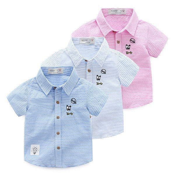 Striped Short Boy Kid Cheap T Shirt Heat Press Machine From Chinese Manufacturers
