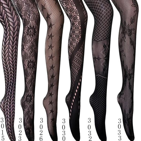 Seksi Fishnet çorap kızlar İç Şeffaf Tayt Vintage Hollow Out Naylon Yeni Retro Dövme Openwork Dantel Mesh Küçük Mesh Pantyhose