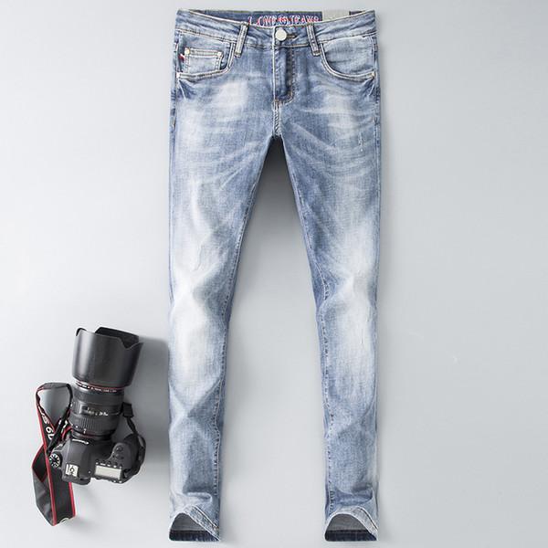 Italian Brand GUC Jeans Men's Straight High-quality Slim Jeans Men's Large Size Cotton Fashion Mid-rise Retro Denim Trousers Size 28-38