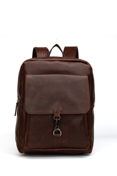 Mens Vintage Fashion Crazy Horse Leather Backpacks High Quality Youth Travel Rucksack Casual Male School Book Bags Business Backpack For Men