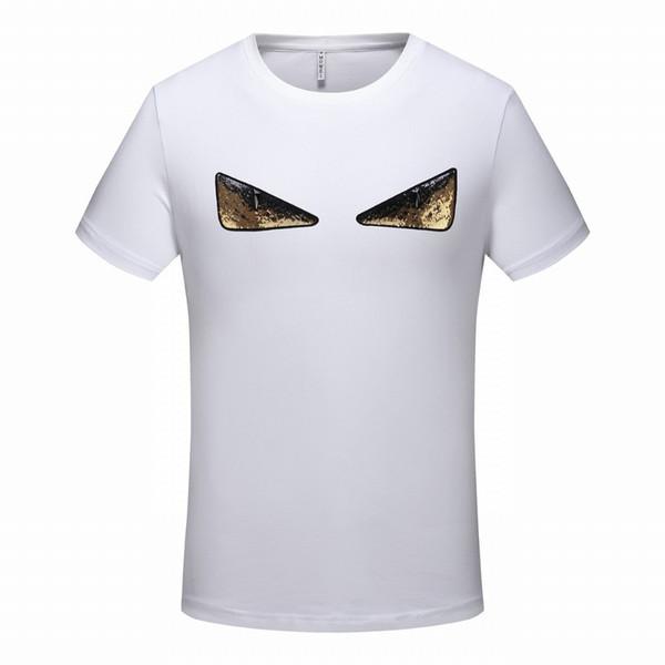 2019 новые модели взрыва хлопка дна рубашки летние личности случайные мужские с короткими рукавами футболки моды высокого класса красивый мужчина 6042