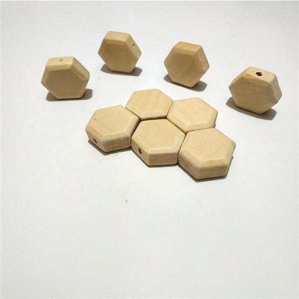 Hexagon beads 50pcs