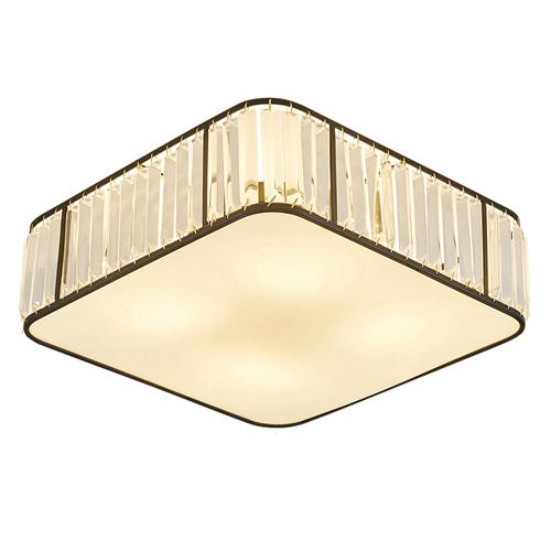 Modern American crystal ceiling chandeliers lamps square black led ceiling chandelier lights ceiling lighting fixtures for home decorations