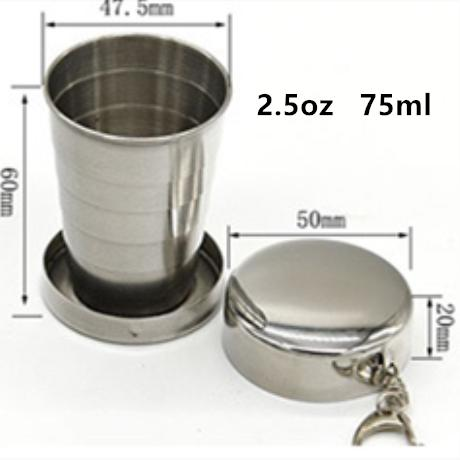2.5oz 75ml collapsible cup