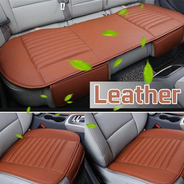 Car en cuir respirant PU Seat Cover Four Seasons avant Coussin arrière Protecteur Mat Pad pour les accessoires automobiles Taille universelle