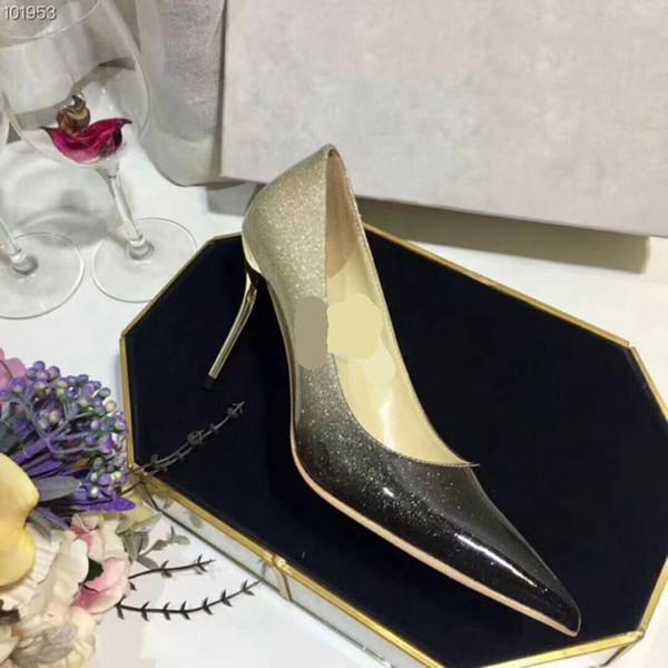 Moda e moda marca negócios sapatos, dedos apontados, sapatos de salto alto de couro italiano, banquete de casamento, frete grátis, 35-40 metros
