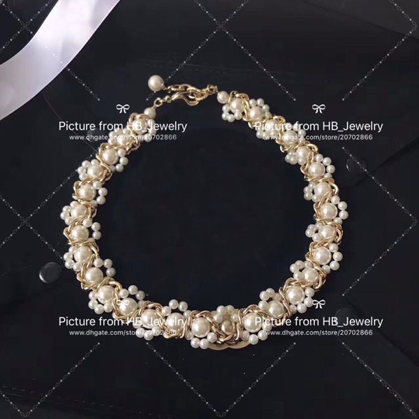 top popular Popular fashion brand pearl necklace bracelets for lady Design Women Party Wedding Lovers gift Luxury Jewelry for Bride With BOX 2021