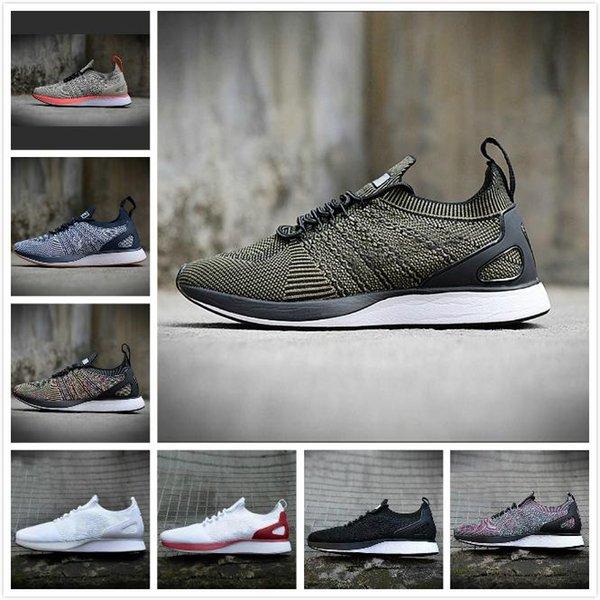 New Racer sapatos de grife Flywire Knit Racer 2.0 Zoom das mulheres dos homens calçados esportivos BE Sapatilhas Caminhada VERDADEIRO Multicolor Oreo Formadores